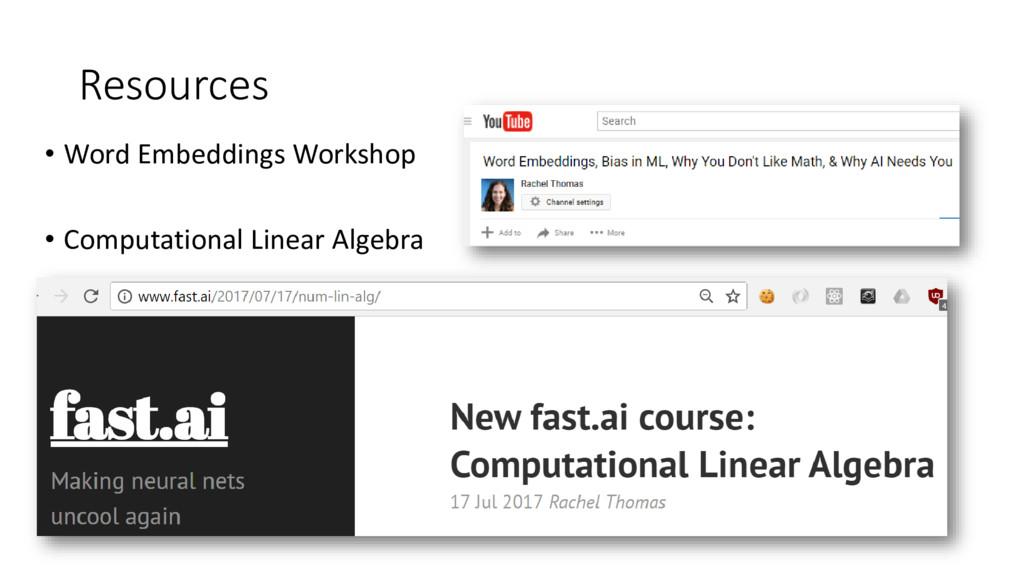 Resources • Word Embeddings Workshop • Computat...