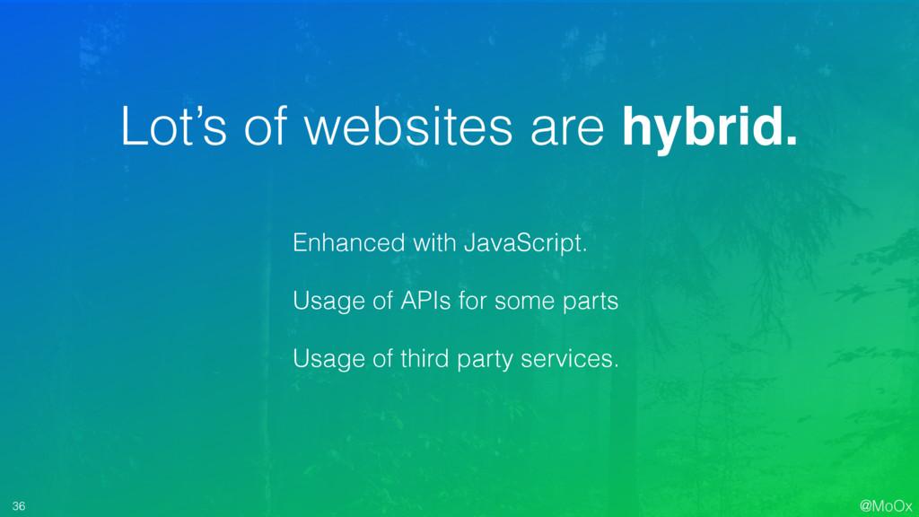 @MoOx 36 Lot's of websites are hybrid. Enhanced...