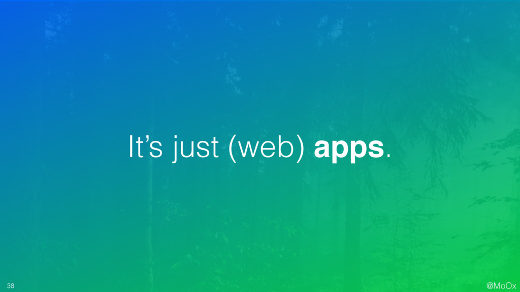 @MoOx 38 It's just (web) apps.