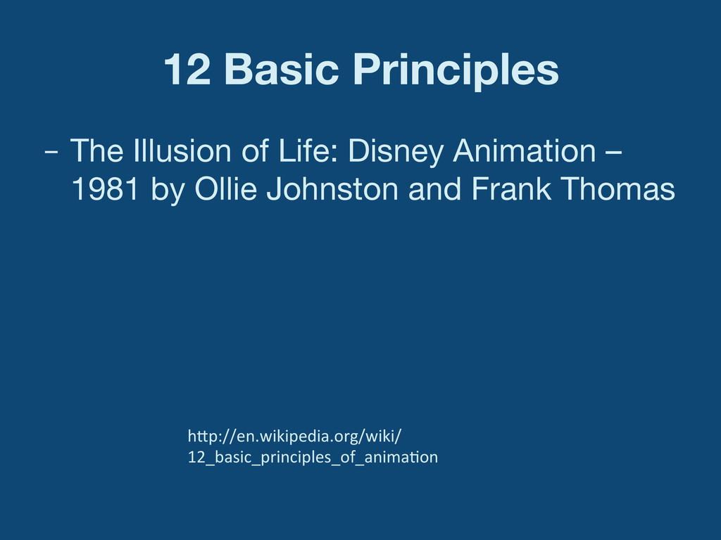 12 Basic Principles