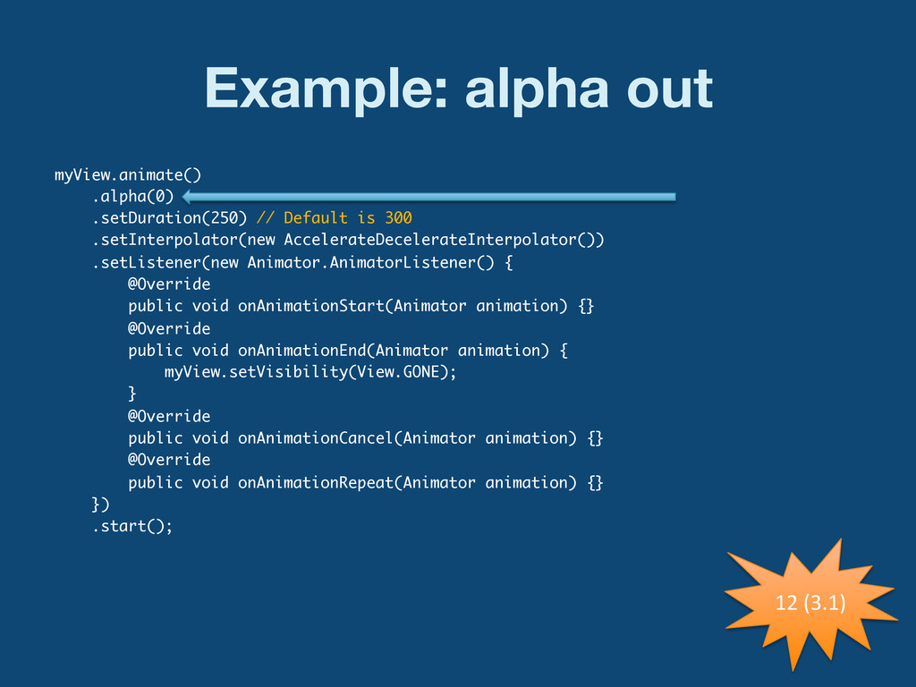 Example: alpha out