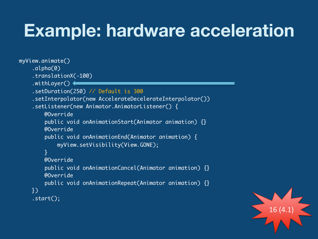 Example: hardware acceleration