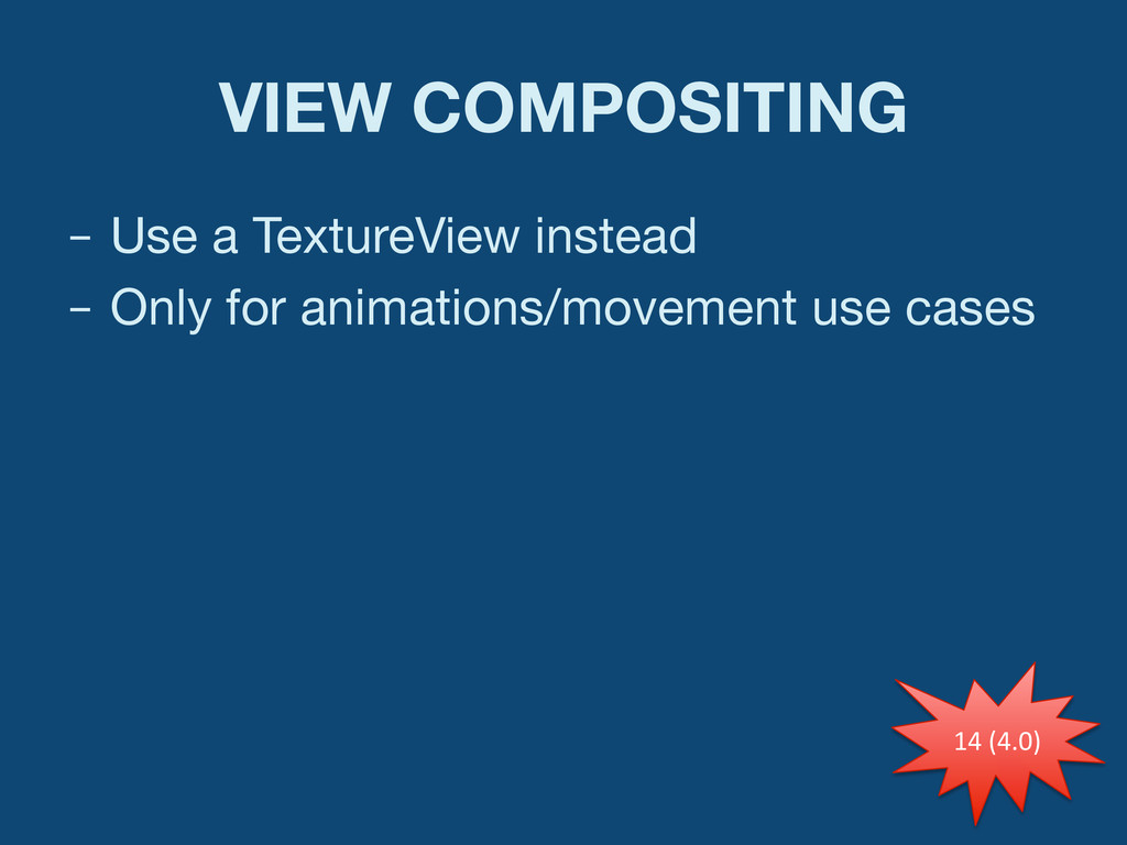 VIEW COMPOSITING