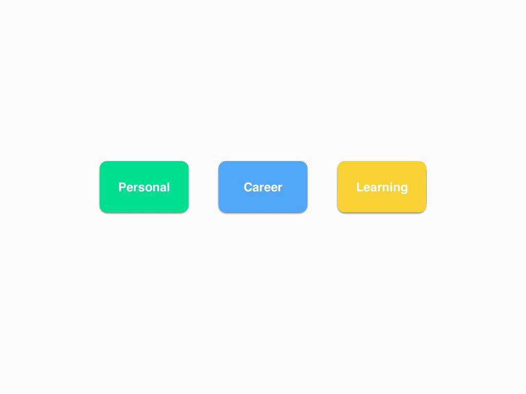 Personal Career Learning