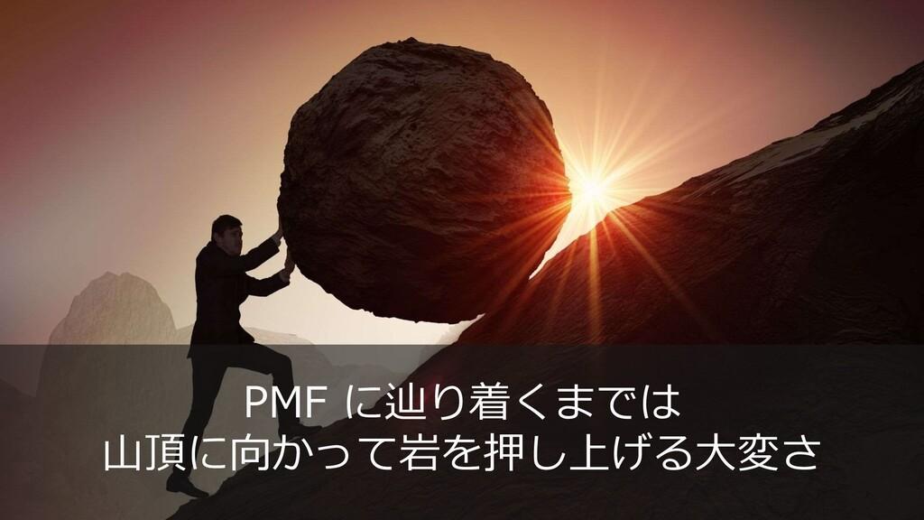 20 PMF に辿り着くまでは 山頂に向かって岩を押し上げる大変さ