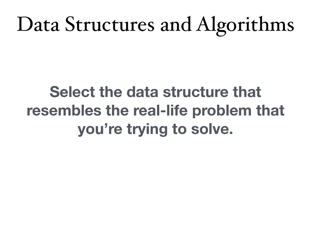 Data Structures and Algorithms Select the data ...