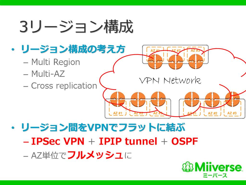 • リージョン構成の考え方 – Multi Region – Multi-AZ – Cross...