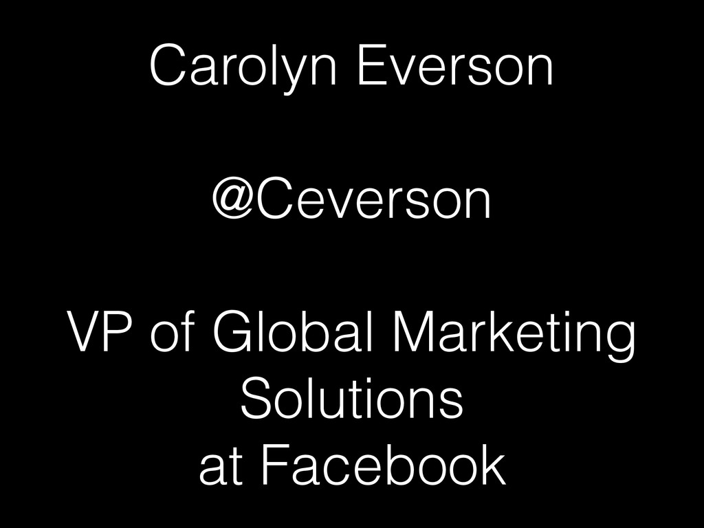Carolyn Everson 