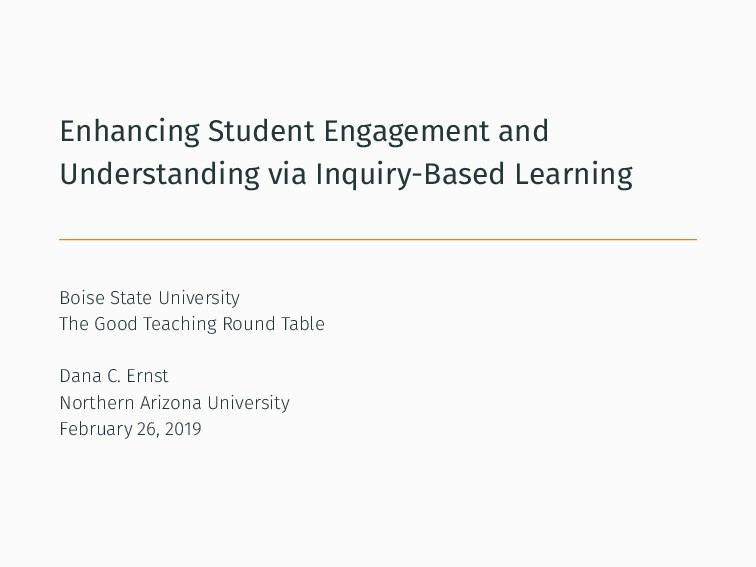Enhancing Student Engagement and Understanding ...