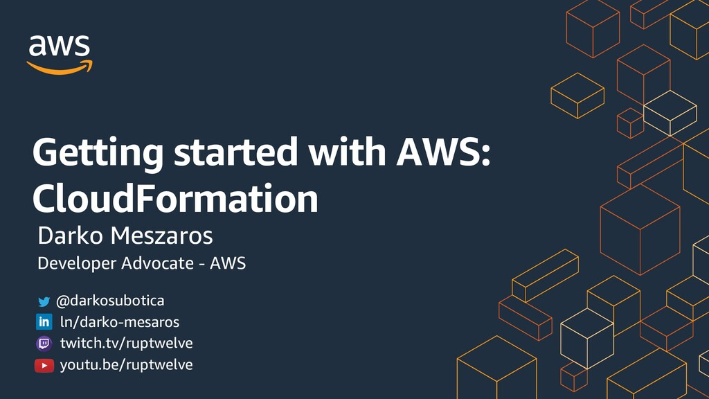 Getting started with AWS: CloudFormation Darko ...