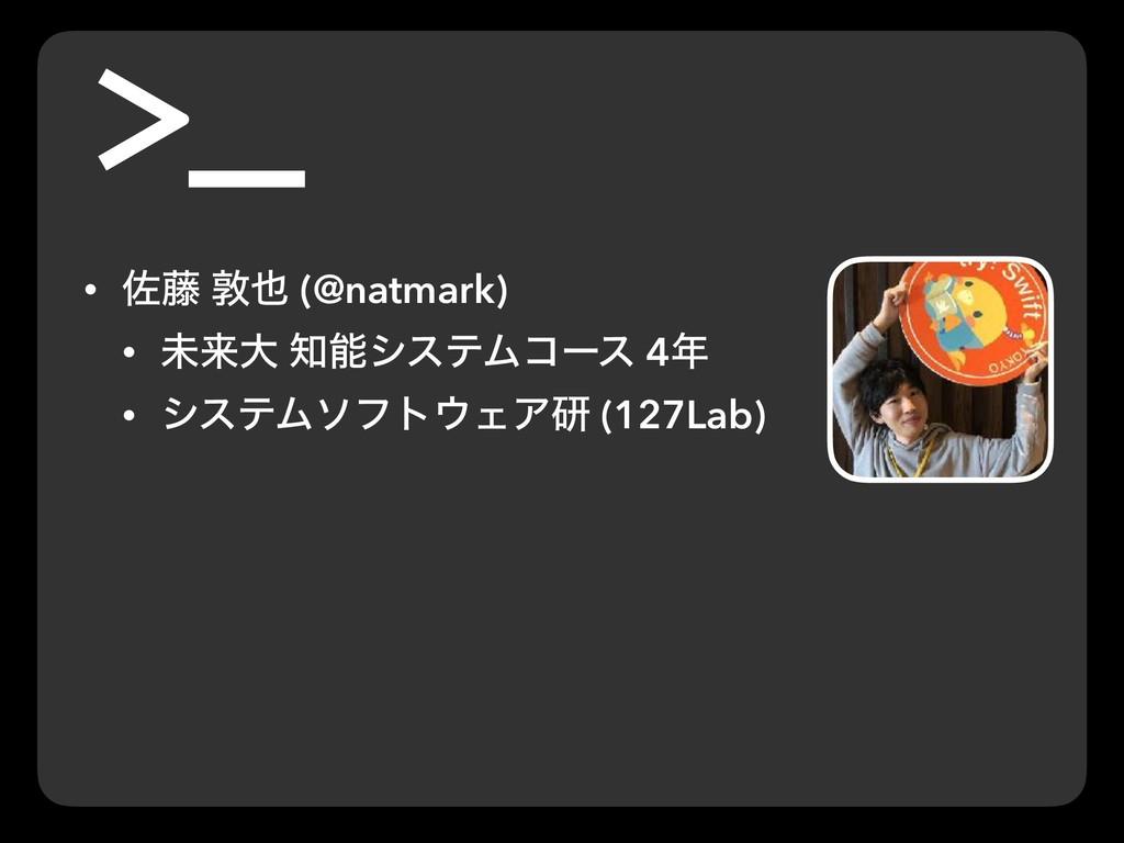 • ࠤ౻ ರ (@natmark) • ະདྷେ γεςϜίʔε 4 • γεςϜιϑτ...
