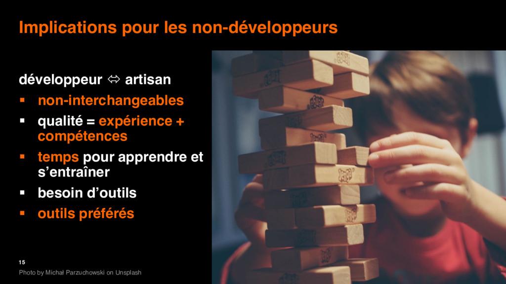 15 Implications pour les non-développeurs dével...
