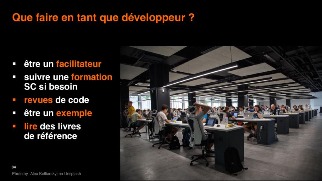 34 Que faire en tant que développeur ? § être u...