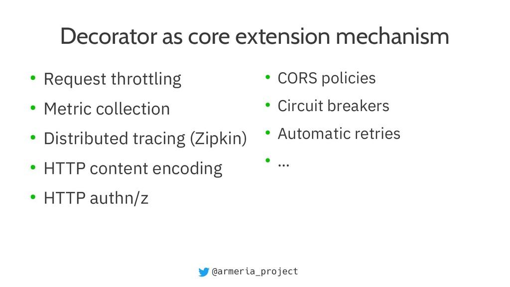 @armeria_project Decorator as core extension me...
