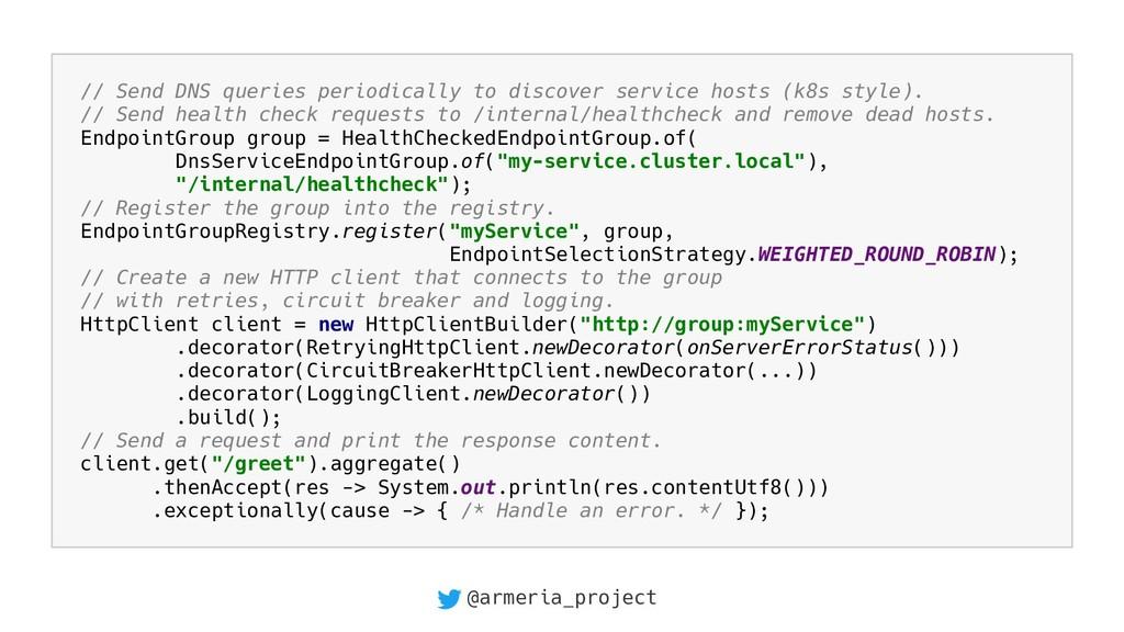@armeria_project // Send DNS queries periodical...