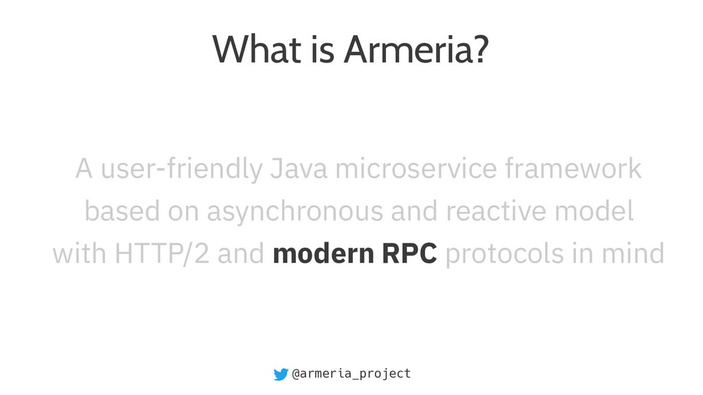 @armeria_project What is Armeria? A user-friend...
