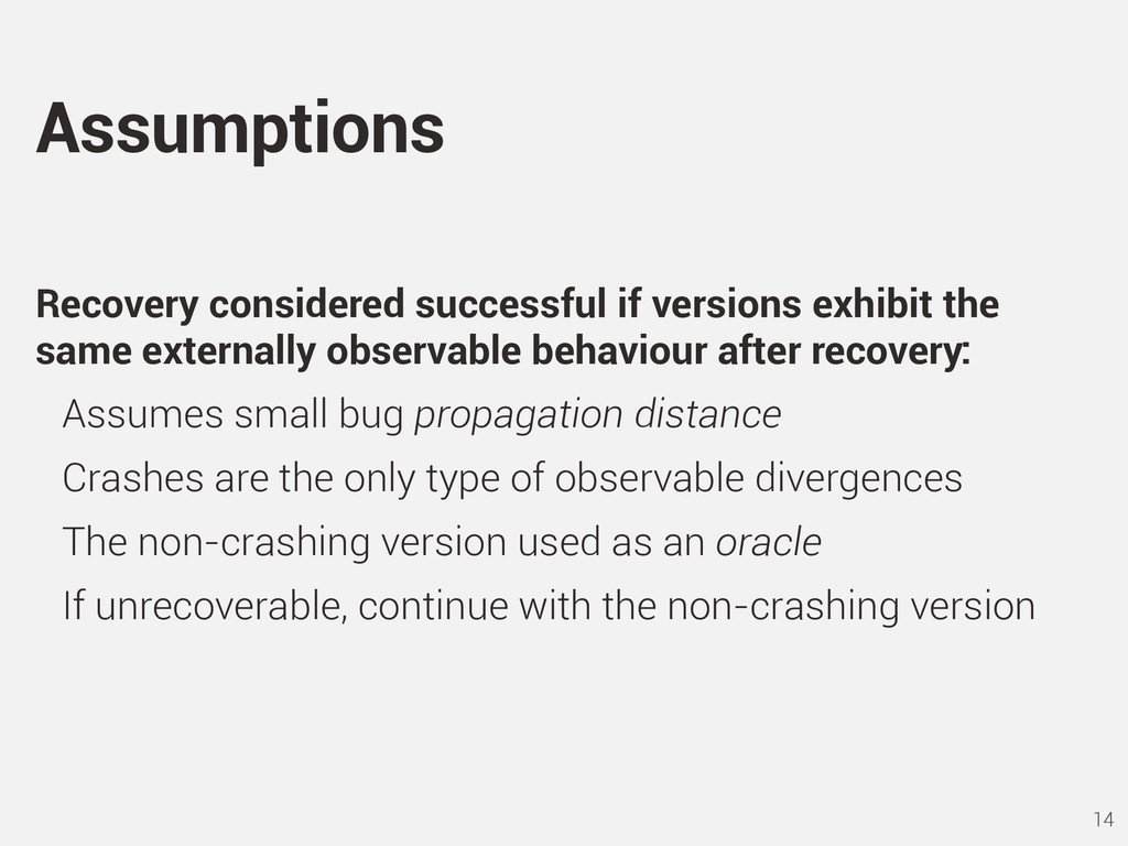 Recovery considered successful if versions exhi...