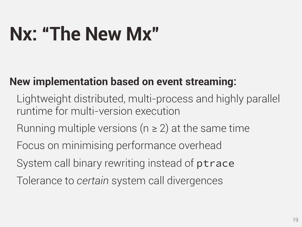 New implementation based on event streaming: Li...