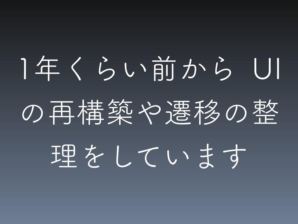 ͘Β͍લ͔Β 6* ͷ࠶ߏஙભҠͷ ཧΛ͍ͯ͠·͢