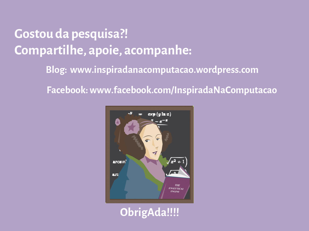 Facebook: www.facebook.com/InspiradaNaComputaca...