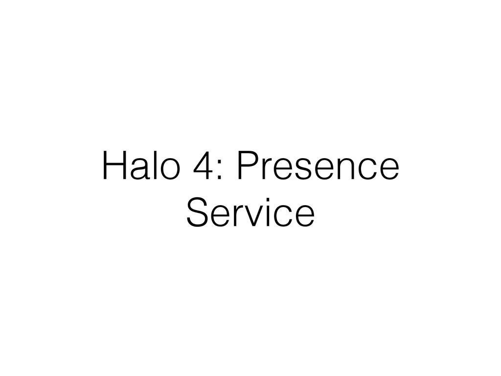 Halo 4: Presence Service