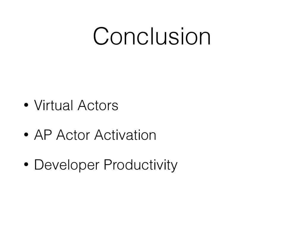 Conclusion • Virtual Actors • AP Actor Activati...