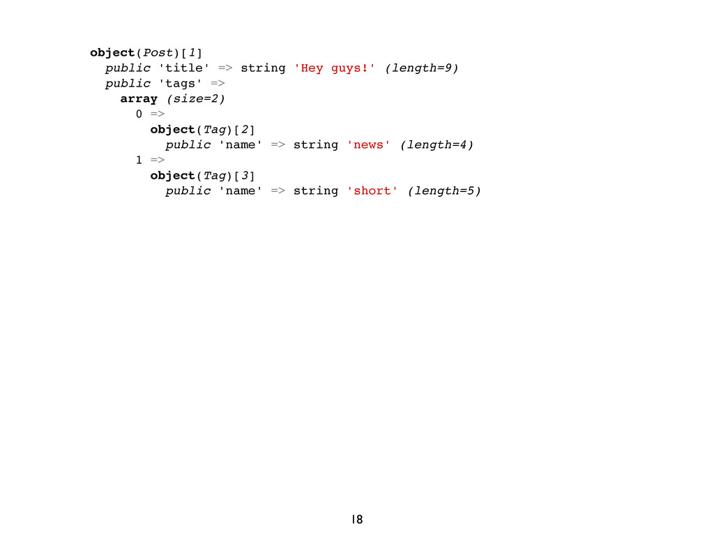 object(Post)[1] public 'title' => string 'Hey g...