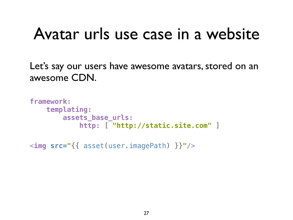 Avatar urls use case in a website Let's say our...