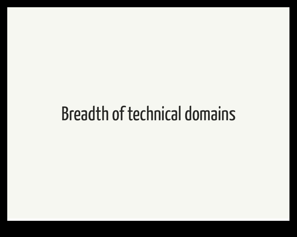 Breadth of technical domains