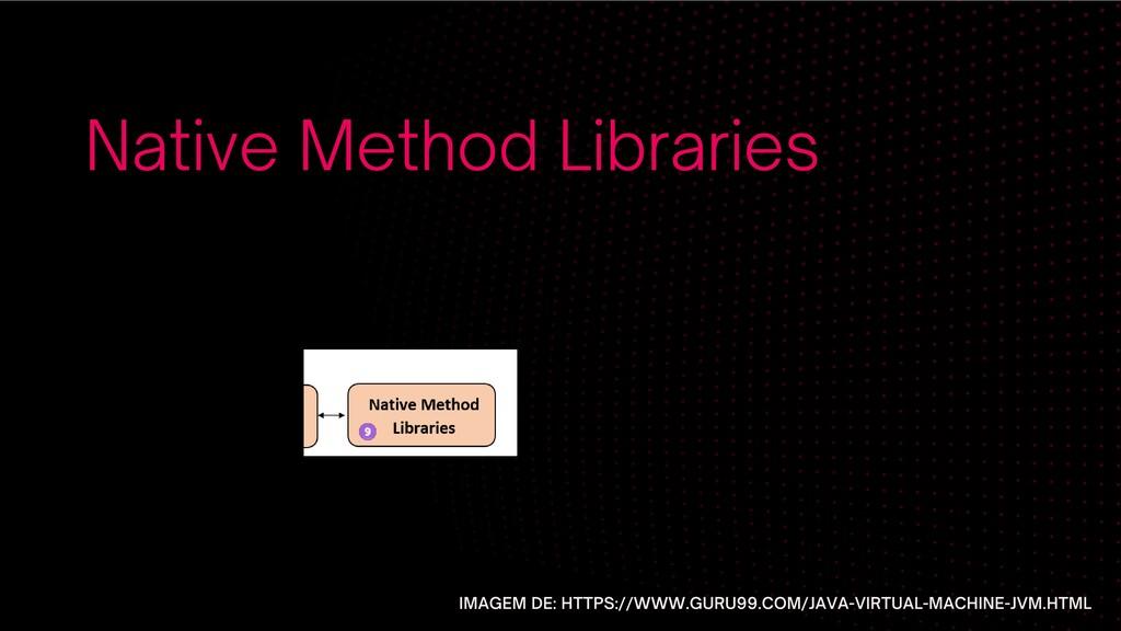 Native Method Libraries IMAGEM DE: HTTPS://WWW....