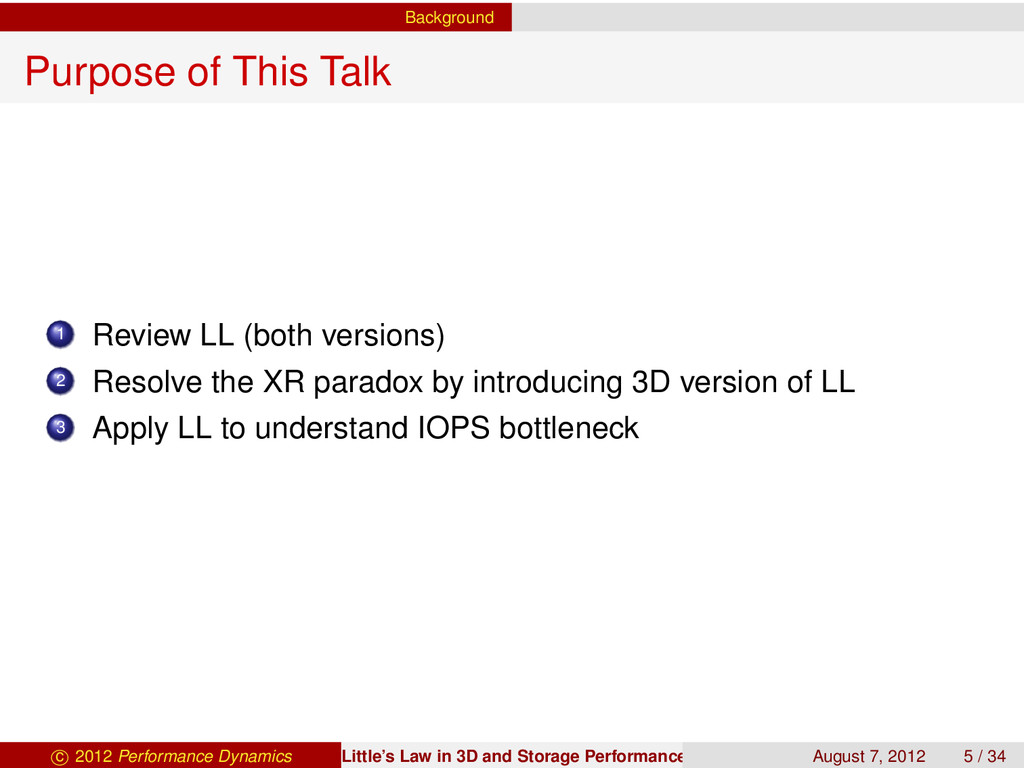 Background Purpose of This Talk 1 Review LL (bo...