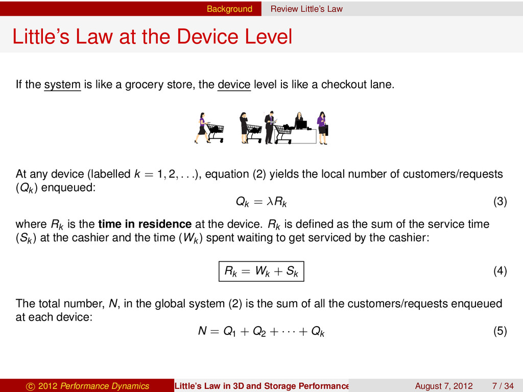 Background Review Little's Law Little's Law at ...