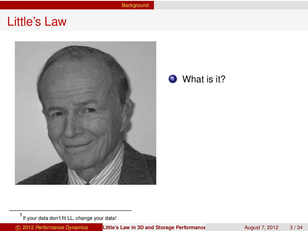 Background Little's Law 1 What is it? 1 If your...