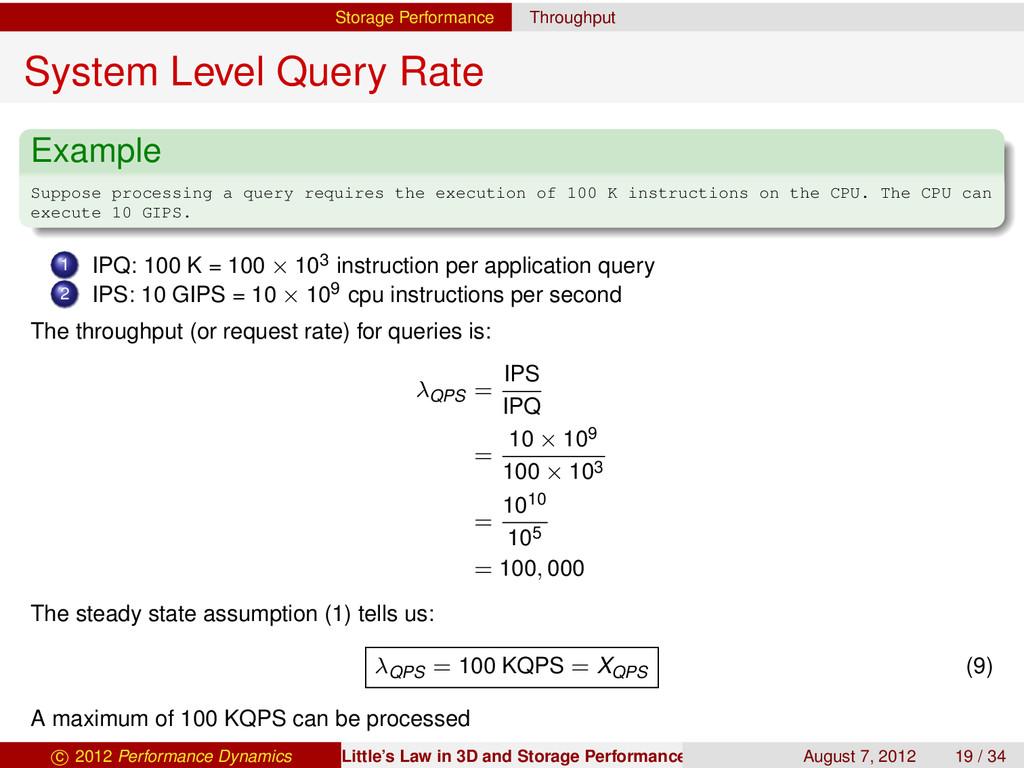 Storage Performance Throughput System Level Que...