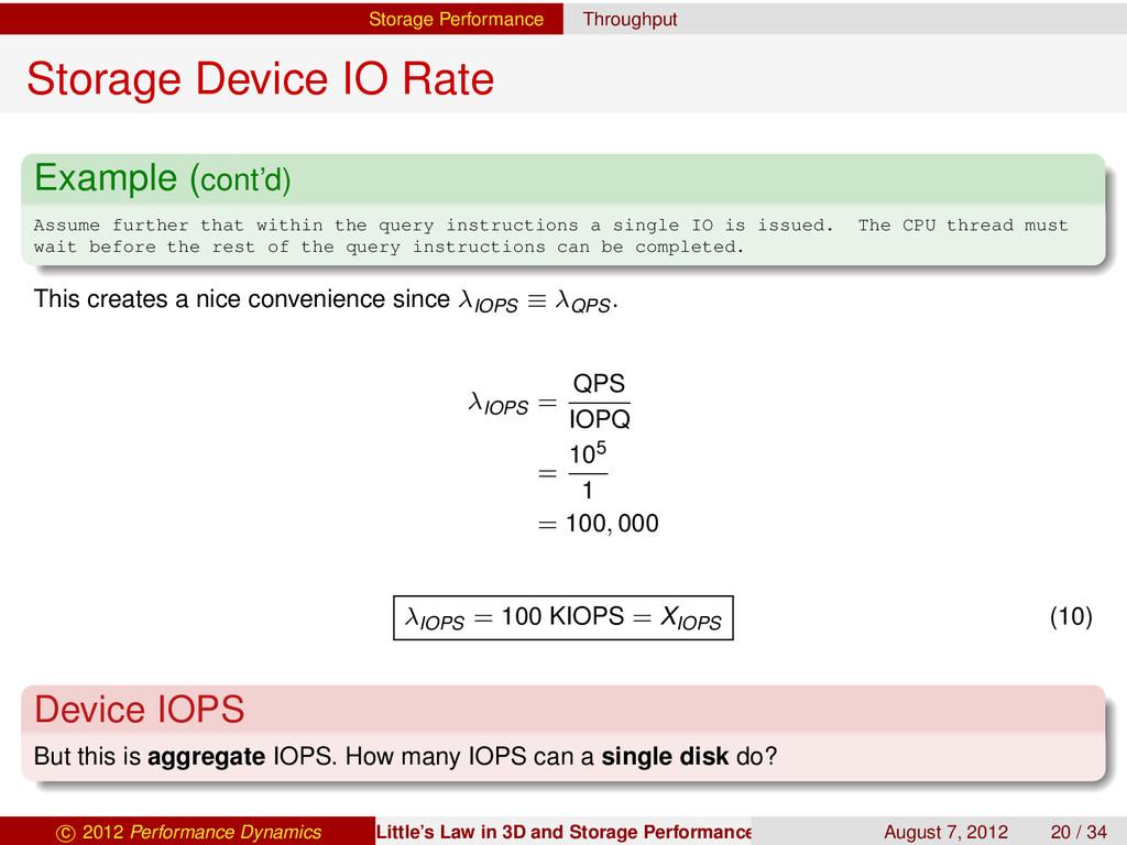 Storage Performance Throughput Storage Device I...