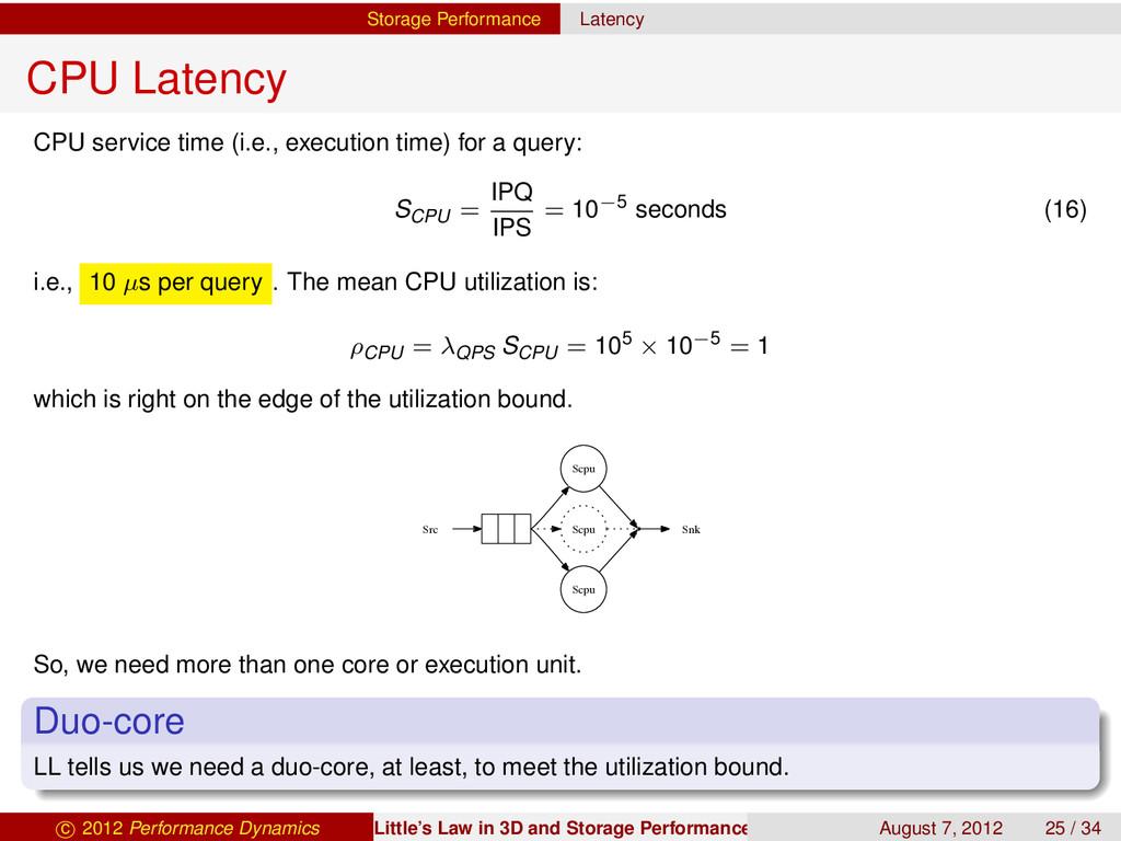 Storage Performance Latency CPU Latency CPU ser...