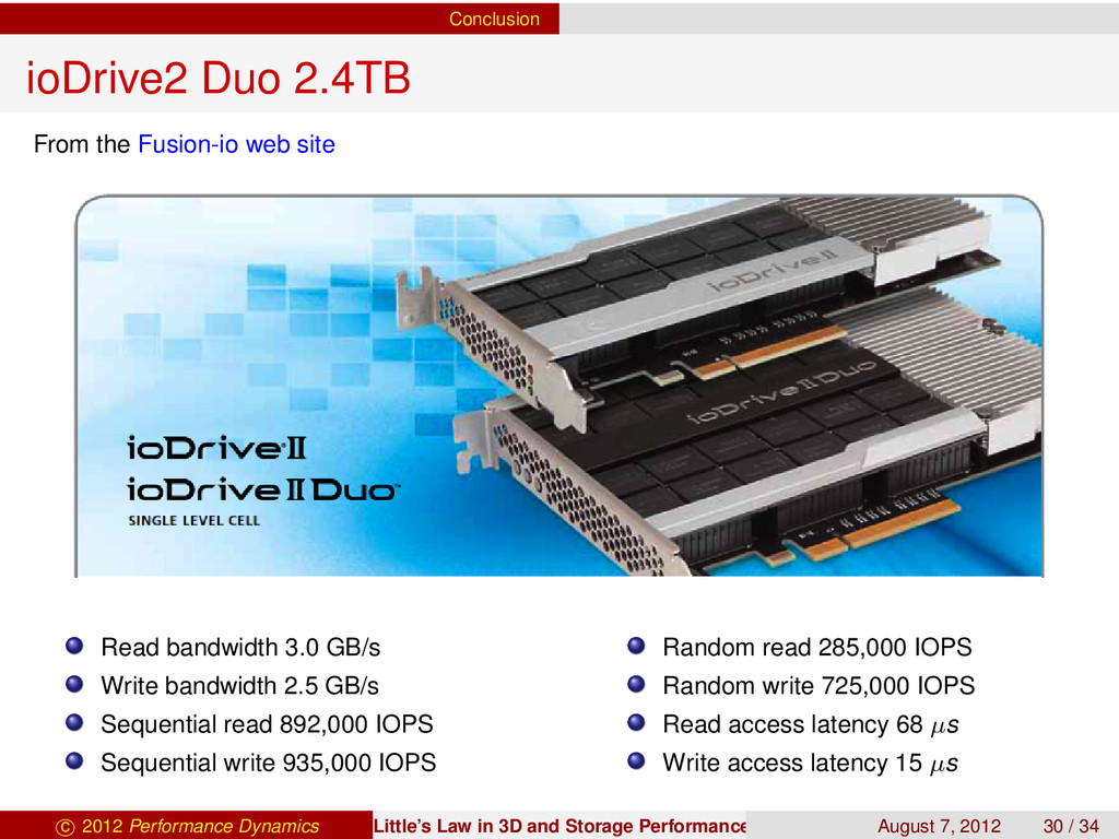 Conclusion ioDrive2 Duo 2.4TB From the Fusion-i...
