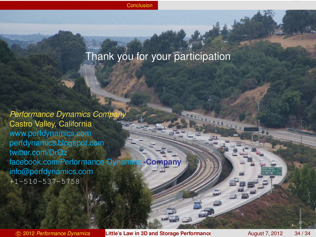 Conclusion Thank you for your participation Per...