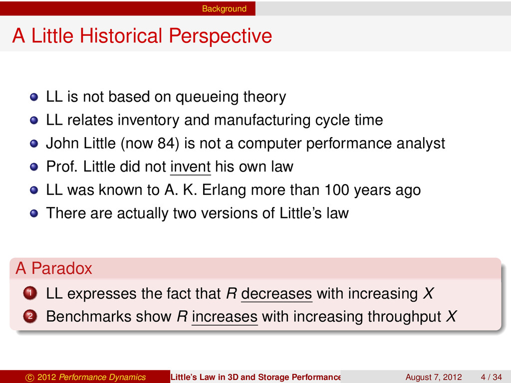 Background A Little Historical Perspective LL i...