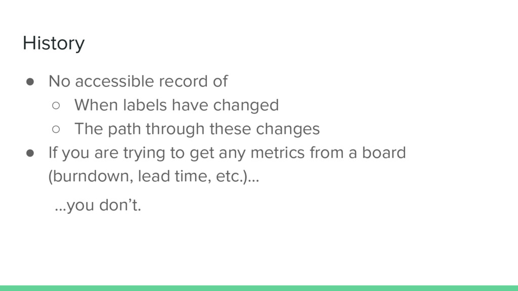 ● No accessible record of ○ When labels have ch...