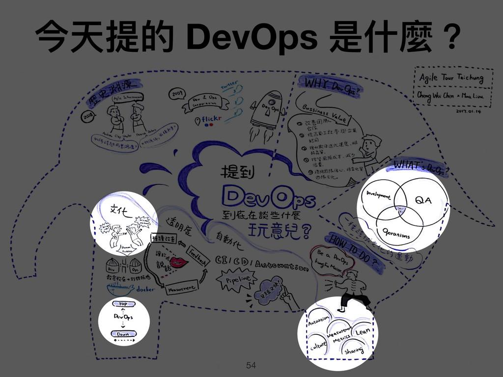 54 今天提的 DevOps 是什什麼?