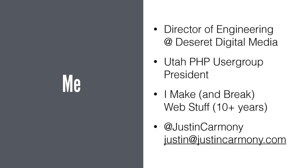 Me • Director of Engineering @ Deseret Digital...