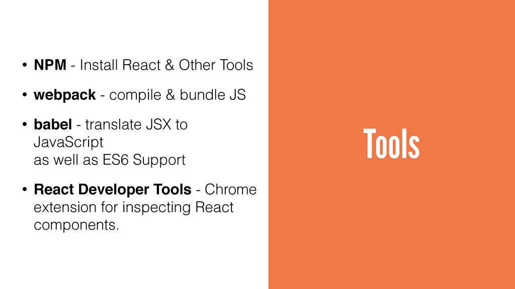 Tools • NPM - Install React & Other Tools • web...