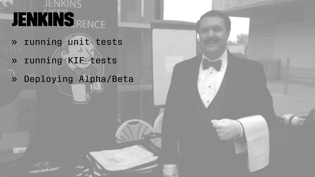 Jenkins » running unit tests » running KIF test...