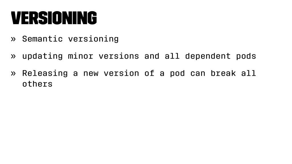 Versioning » Semantic versioning » updating min...