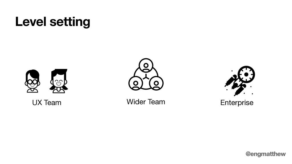 Wider Team UX Team Enterprise Level setting @en...