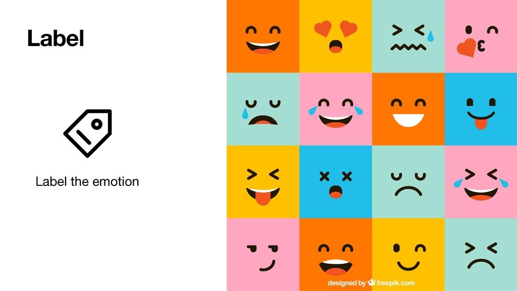 Label the emotion Label