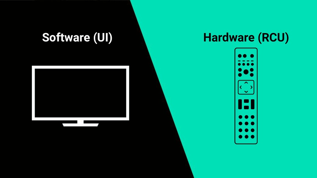 Software (UI) Hardware (RCU)