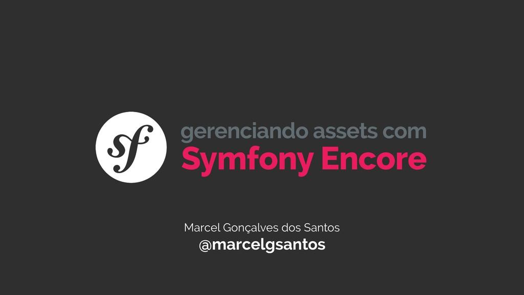 Marcel Gonçalves dos Santos @marcelgsantos Symf...