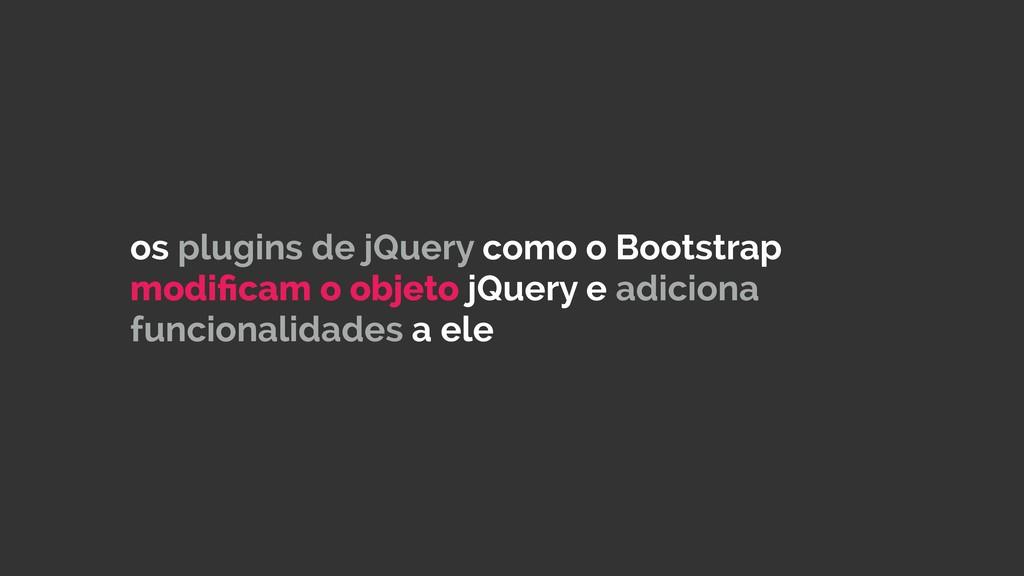 os plugins de jQuery como o Bootstrap modificam ...